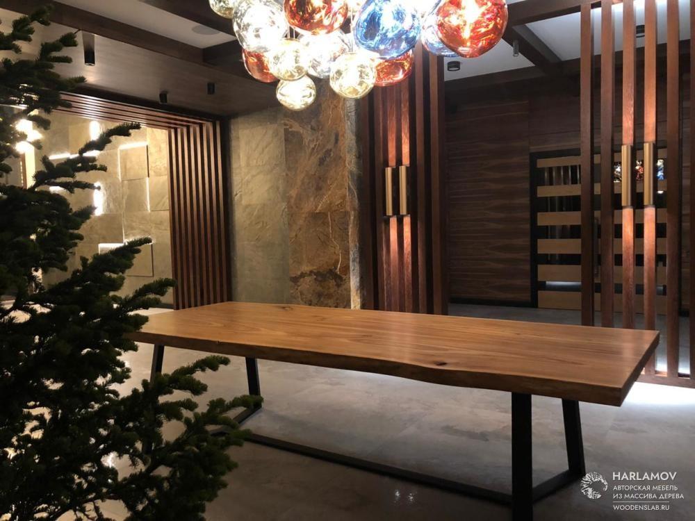 Стол из слэба карагача «Amicable» — WoodenSlab.ru