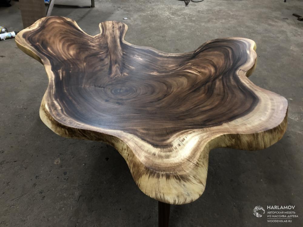 Журнальный стол из массива «Суар» — WoodenSlab.ru