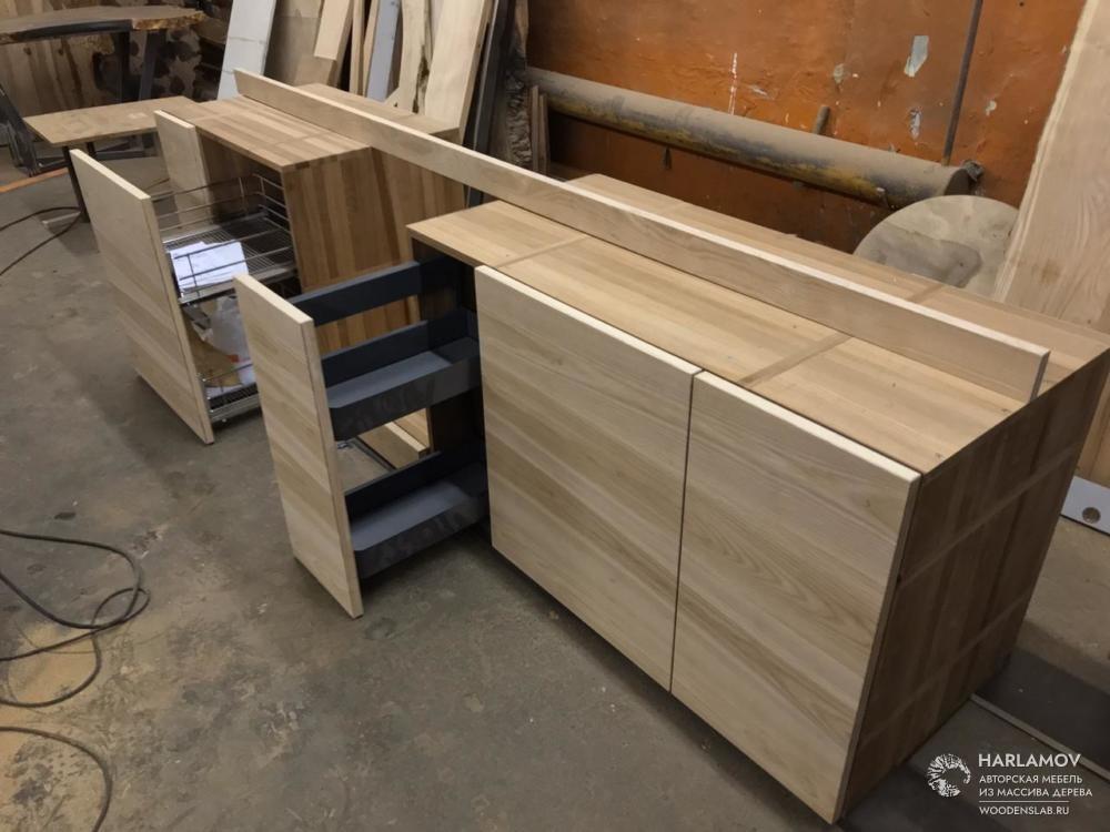 Кухня из массива дерева — WoodenSlab.ru