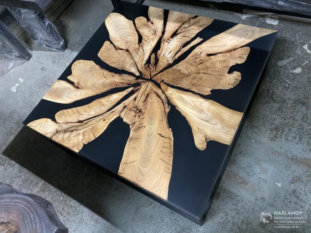 Авторский журнальный стол «Gazanias» — WoodenSlab.ru