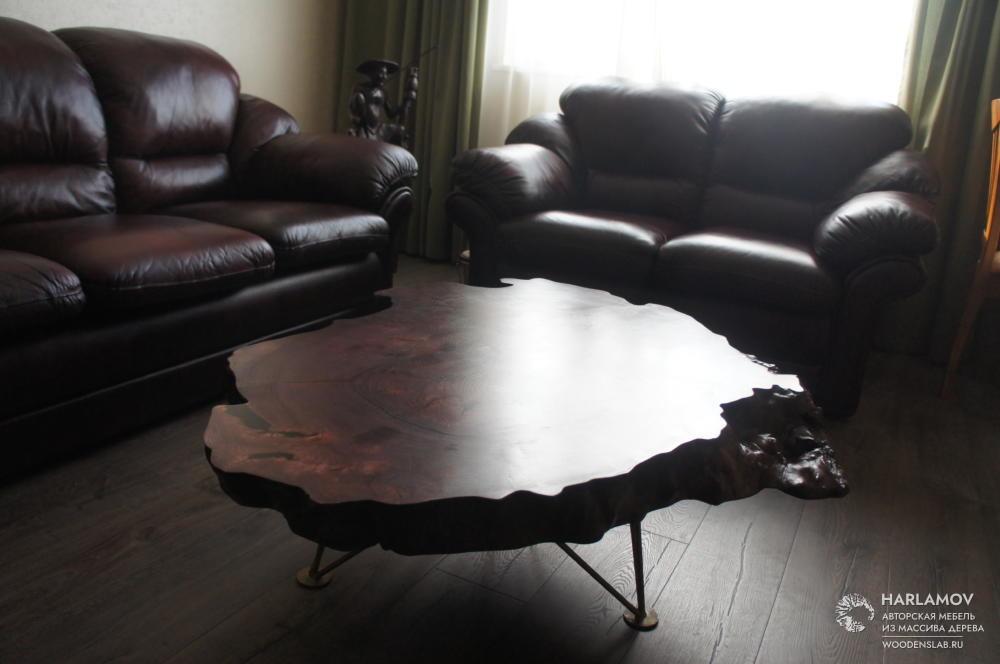 Журнальный стол из карагача — WoodenSlab.ru