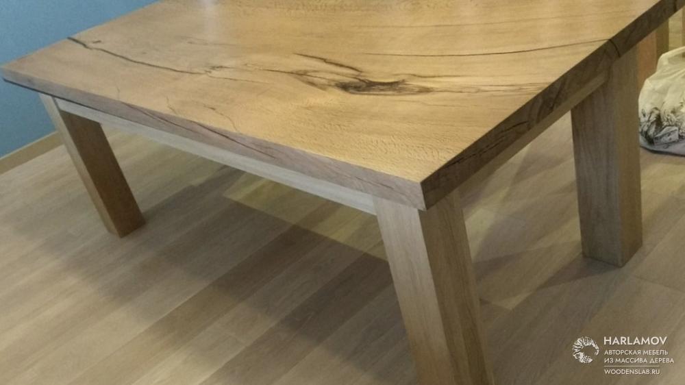 Стол из массива дуба — WoodenSlab.ru