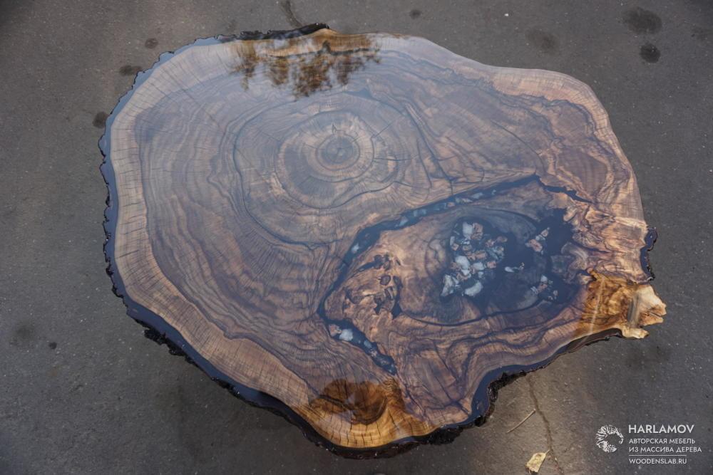 Журнальный стол из ореха — WoodenSlab.ru