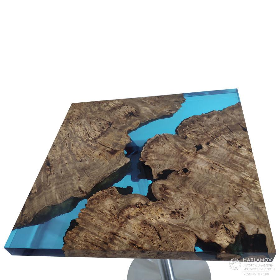 Барный стол «Река» — WoodenSlab.ru