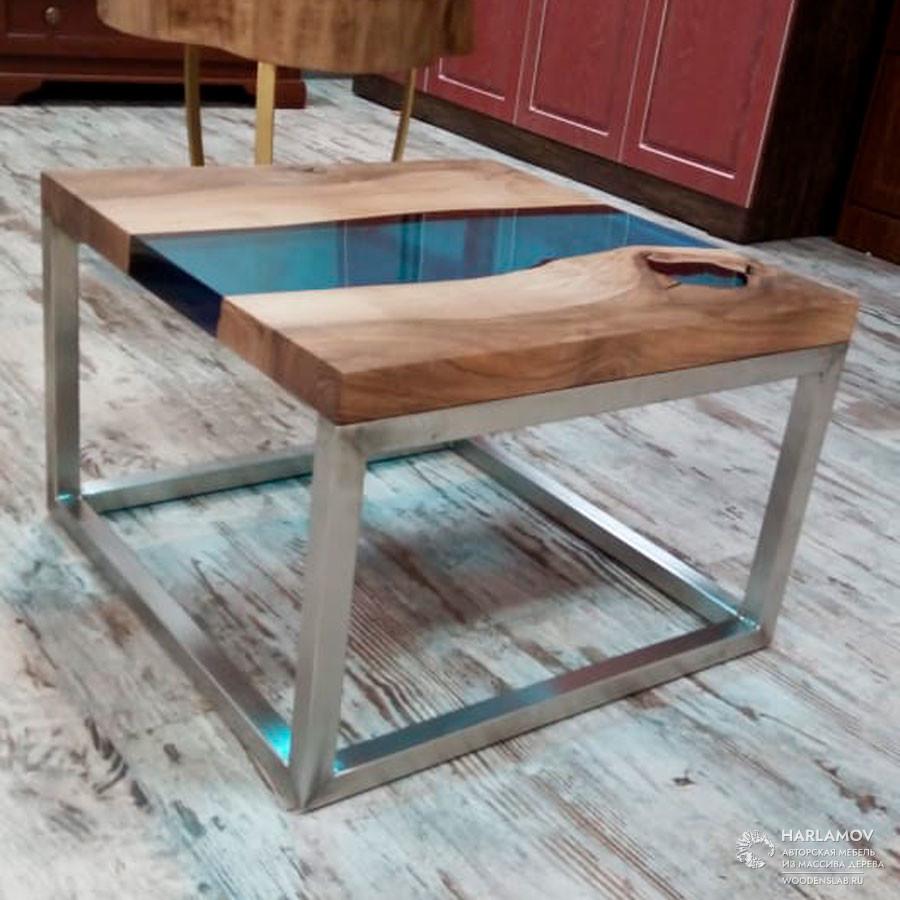 Журнальный стол «Река» — WoodenSlab.ru