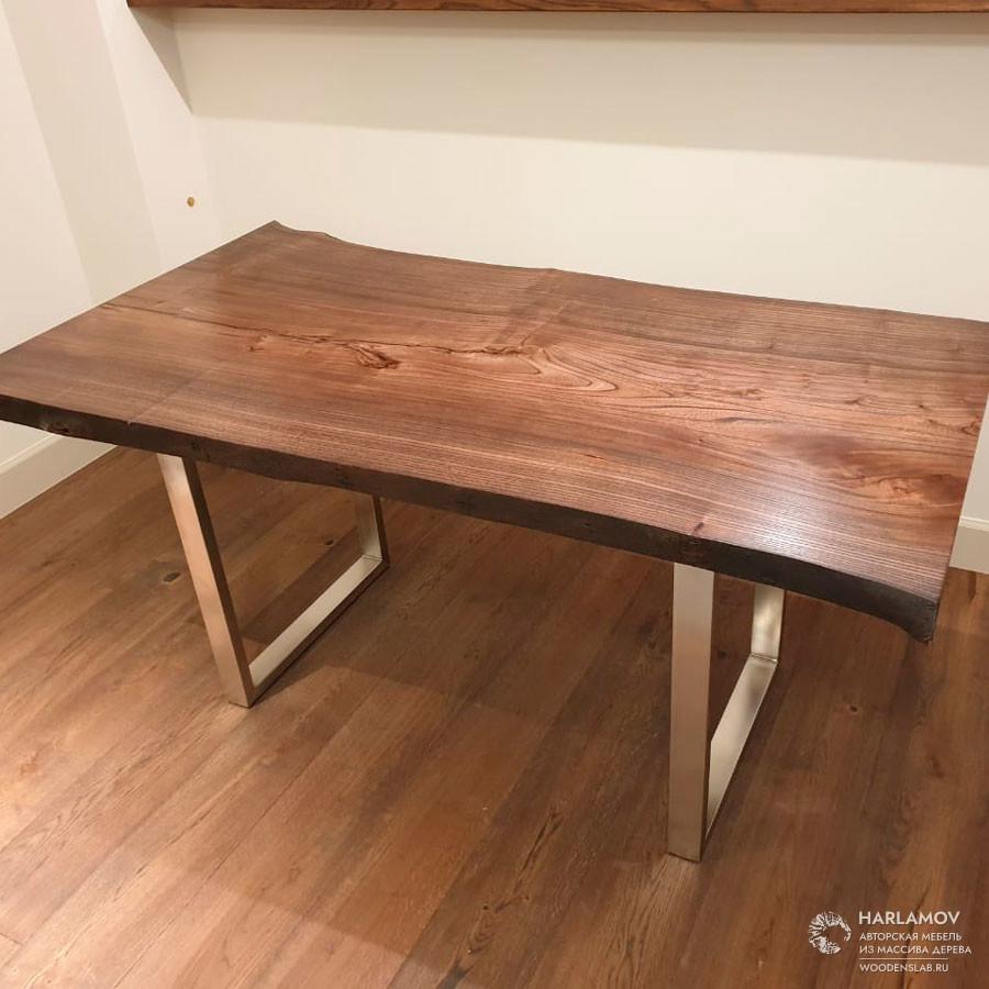 Стол из слэба карагача — WoodenSlab.ru