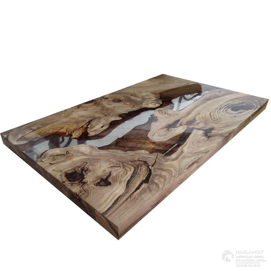 Столешница «Река» — WoodenSlab.ru