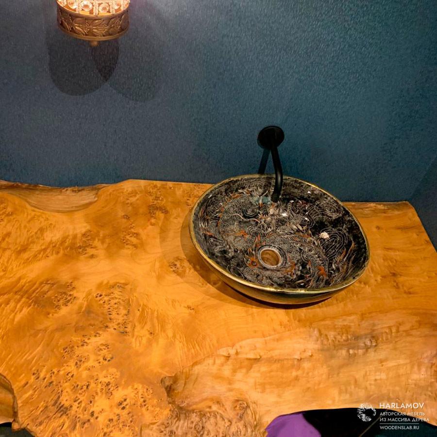 Столешница в ванную комнату — WoodenSlab.ru