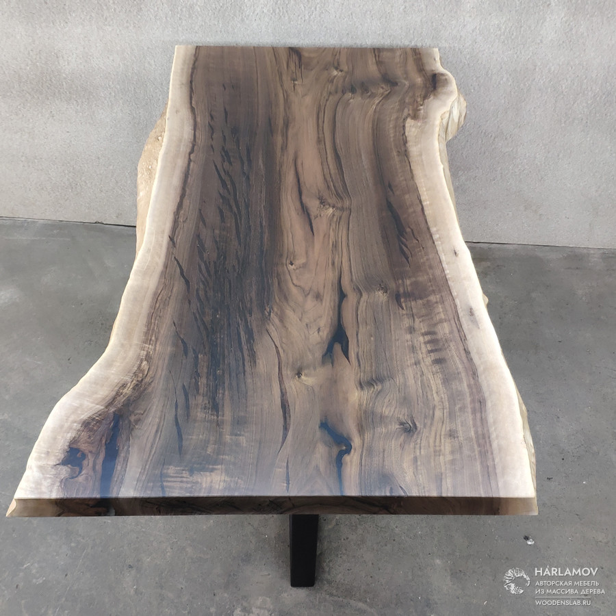 Стол из слэба ореха — WoodenSlab.ru