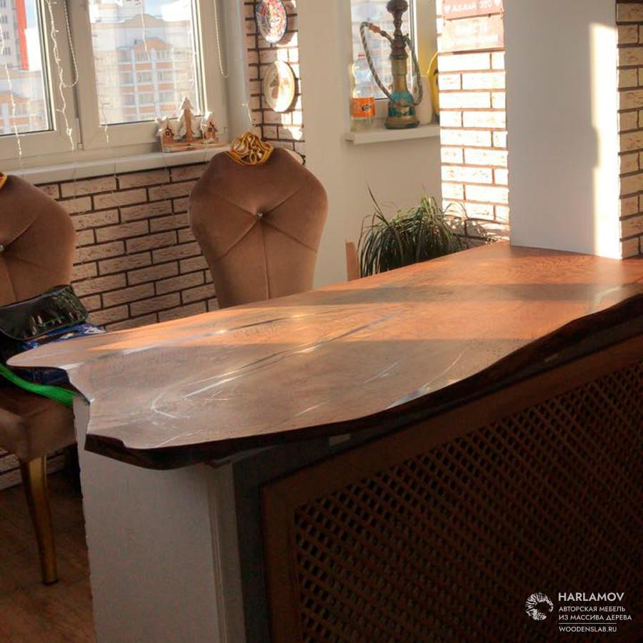 Столешница для барной стойки — WoodenSlab.ru