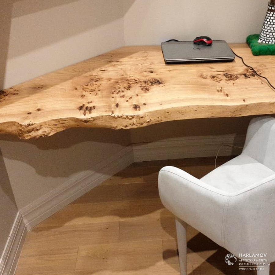Столешница из тополя — WoodenSlab.ru