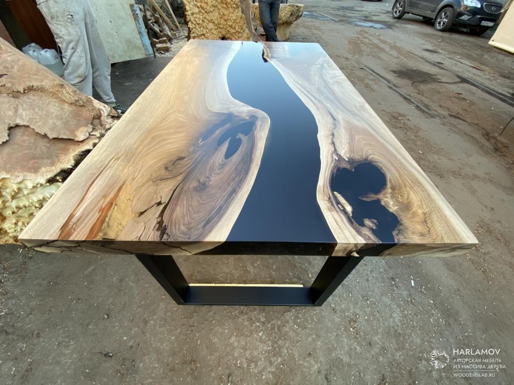 Авторский стол «Darkness» — WoodenSlab.ru