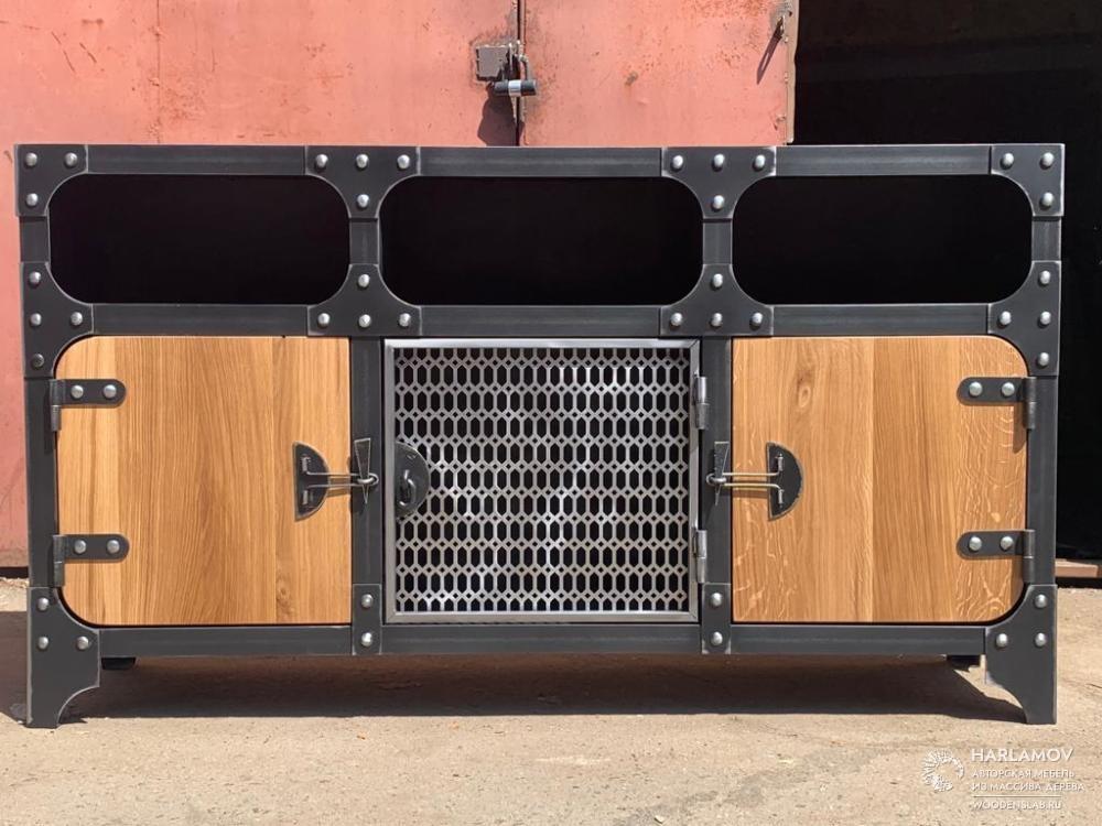 Комод из металла в стиле industrial — WoodenSlab.ru