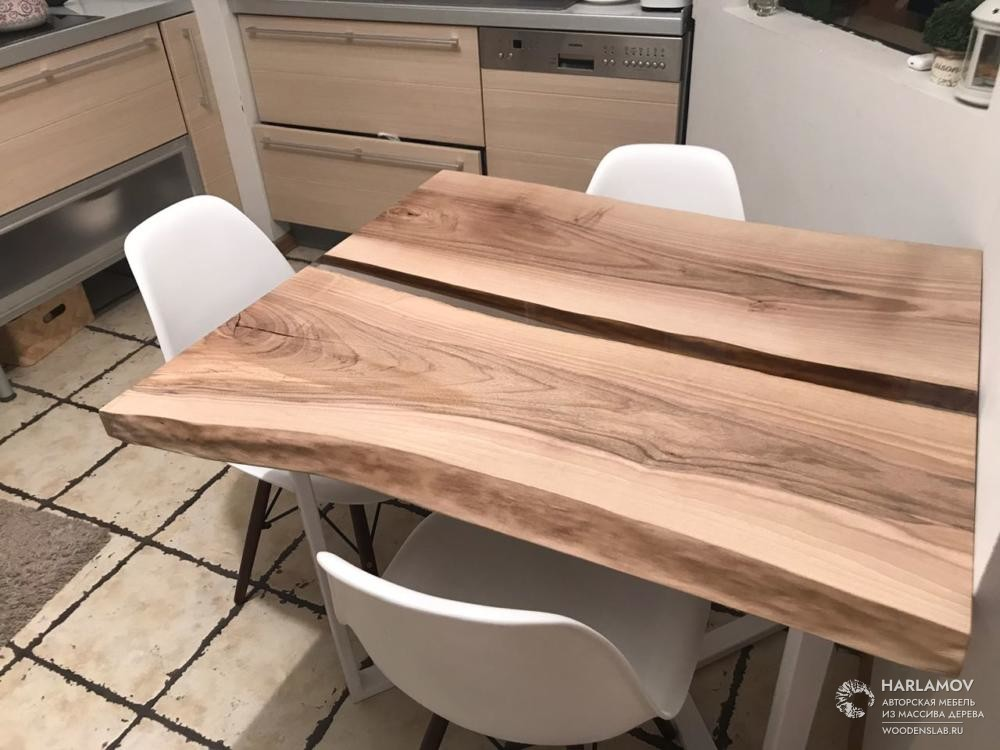 Стол «Река» из ореха — WoodenSlab.ru