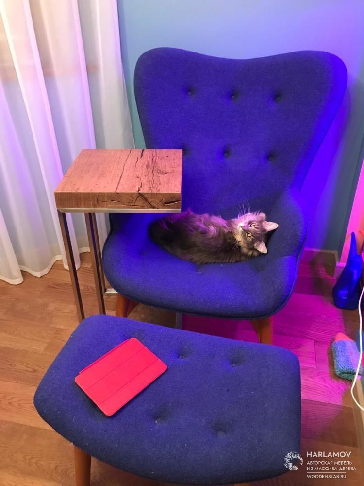 Придиванный столик — WoodenSlab.ru