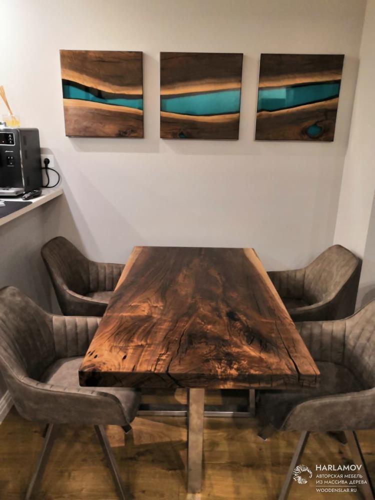 Стол из слэба ореха — WoodenSlab.ru