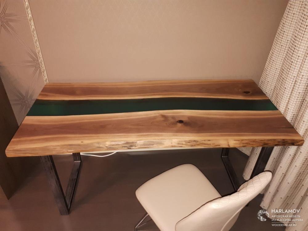 Стол «Река» из Американского ореха — WoodenSlab.ru