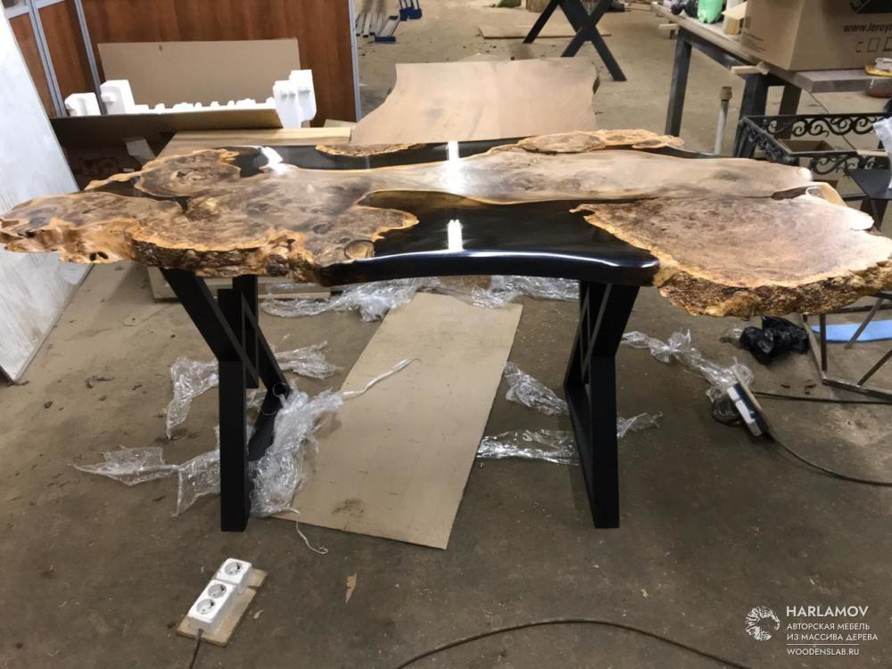 Рабочий стол из массива карагача — WoodenSlab.ru